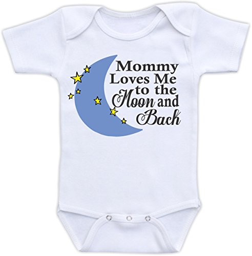 Mommy Loves Me To The Moon And Back (24M Bodysuit)