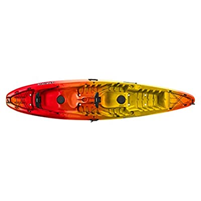 9350555042 Perception Pescador 13.0 T Tandem Kayak, Red/Yellow from Confluence Watersports