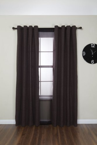 Umbra Diverge Double Drapery Rod Set For Window 48 To 88 Inch Auburn Bronze Home Garden Decor
