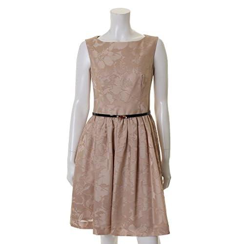 (エフデ)ef-de dress フラワーシャンタンワンピース ベージュ 09