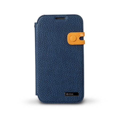 Great Sale Zenus Color Edge Cover Case for Apple iPhone 5 (Navy)