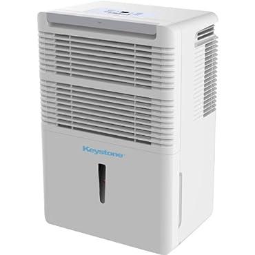 Keystone KSTAD50B Energy Star Dehumidifier, 50-Pint
