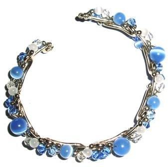 Tribe Pale blue skinny steel bracelet (one size fits all)