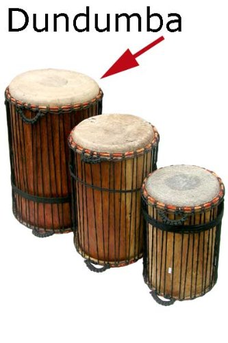 African Dundumba Dunun Bass Drum – 15 X 28 with stick ...