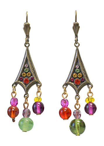 Anne-Koplik-Multicolor-Dangling-Earrings-with-Swarovski-Crystals-and-Beads