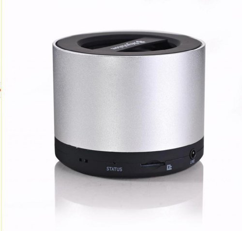 Blue Melody Best Potable Mini Top Rated Stereo Travel Wireless Bluetooth Speaker For Apple Iphone Ipad Ipod Samsung Motorola Philips Laptop Sd Card Bl-N9 Silver