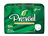 Prevail Extra Absorbency Underwear, Large, 18-Count (Pack of 4)