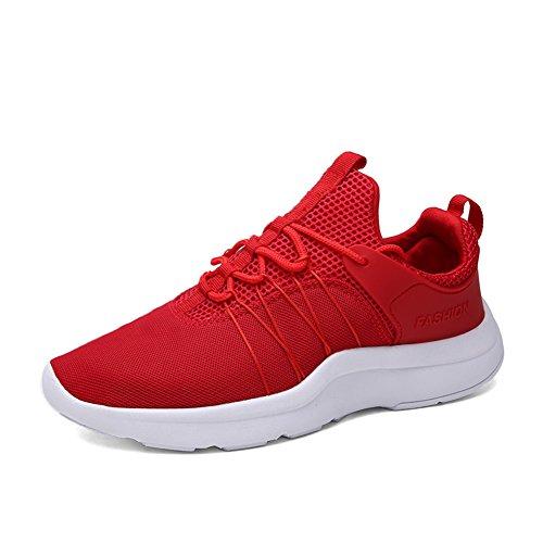 Scarpe sportive uomo estate/Mesh traspirante scarpe/Scarpe casual/Scarpe da corsa/Aiuto alta scarpe-D Lunghezza piede=26.3CM(10.4Inch)