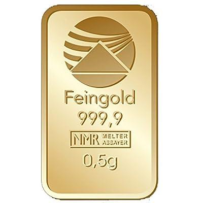 Goldbarren 0,5 g 0,5g Gramm Scheckkartenformat Feingold 999.9 Nadir Gold LBMA-zertifiziert