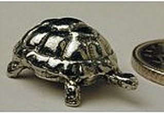 Dollhouse Miniature Polished Pewter Tortoise Figurine