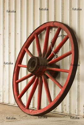 "Wallmonkeys Peel and Stick Wall Decals - Wagon Wheel - 24""H x 16""W Removable Graphic"