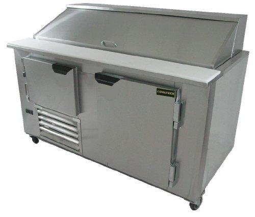 "Cooltech Refrigeration 60-inch 1-1/2 Doors Refrigerated Sandwich Salad Prep Table 60"" CMPH-60BM"