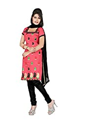 Shree Vardhman Synthetics Gazri Semi Cotton Top Straight Unstiched Salwar Suit Dress Material