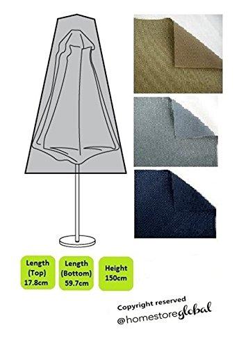 HomeStore Global, Schutzhülle für Sonnenschirm, Dicke und langlebig hochwertige 600D Polyester Segeltuch, All-wetterfest und gegen Feuchtigkeit, Größe ca.: 17,8 oben, unten 59,7 x 150 cm (H), grau günstig