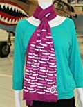 Bright Berry Cotton Blend Scarf