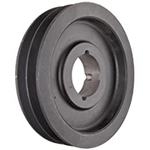 Martin Conventional Taper Bushed Sheave, C Belt Section, 2 Grooves, Class 30 Gray Cast Iron