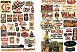 N Scale Signs/Posters -- Farm Implement Feed & Seed 1940s-1950s (54 Signs) by JL Innovative Design