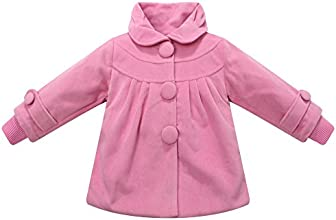 Richie House Girls39 Winter Padding Jacket with Big Buttons Size 3-10 RH1180