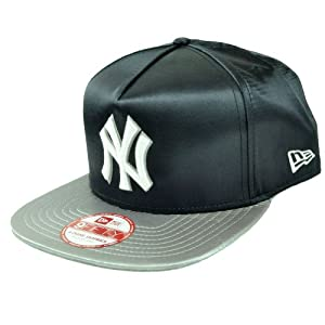 MLB New Era 9Fifty New York Yankees Team Satin A Frame Retro Snapback Hat Cap by New Era