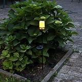 Luxform Solar Leuchte Garten Fackel mit Flacker Kerze wunderschöne Sommer