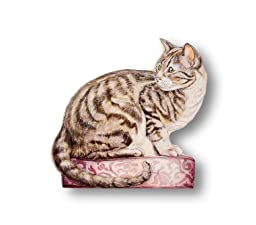 The Stupell Home Decor Collection Tabby Cat Decorative Dog Door Stop