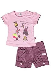 TOFFY HOUSE Pink Girls Set for Kids