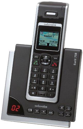 analoge telefone de swissvoice eurit 758 schnurloses isdn telefon dect mit optischer. Black Bedroom Furniture Sets. Home Design Ideas