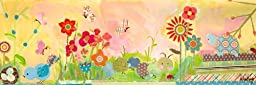 Oopsy daisy Garden Pals Stretched Canvas Wall Art by Winborg Sisters, 36 by 12-Inch