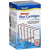 Tetra 19550 6-Pack Whisper Aquarium Filter Cartridge, Small