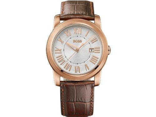 Hugo Boss 1512716 - Reloj analógico de cuarzo para hombre, correa de cuero color marrón