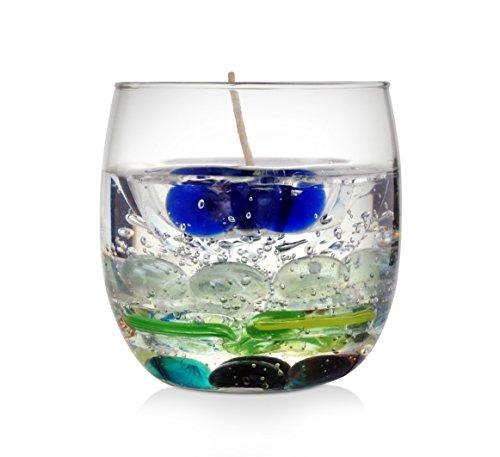 Kuddu Kreations Glass Diya Gel Candle
