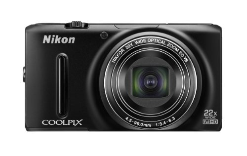 Nikon デジタルカメラ COOLPIX S9500 光学22倍ズーム Wi-Fi対応 マットブラック S9500BK