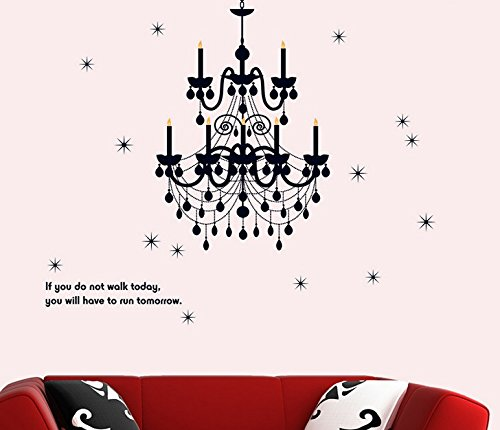 Removable Living Room Television Background Environmental Pvc Wall Stickers Crystal Chandelier front-904937