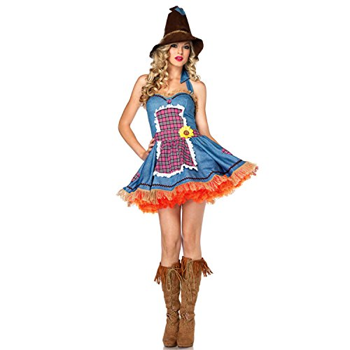 Sexy4Lady Women's Sunflower Scarecrow Costume