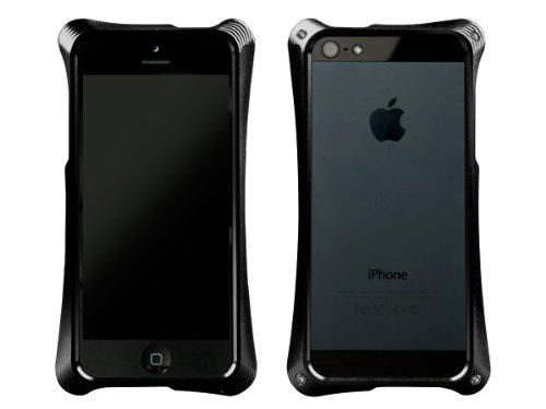 ABEE iPhone5対応 カケンアルマイト 【超肉厚5.4ミリ硬質アルミニウム採用 3次元曲線フォルム アルミジャケットバンパー】 ブラック MA-5R01-BKK