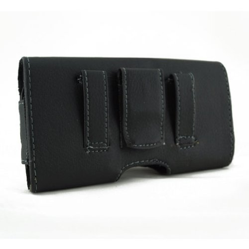 Vertical Holster Leather Belt Clip Swivel Case Pouch Cover For Tmobile Samsung Exhibit 4G Galaxy S Relay 4G S Blaze 4G S 4G