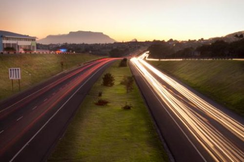 "Traffic on N1-highway at Dusk, Bellville Onramp, Cape Town, Western Cape Province, South Africa - 24""W x 16""H - Peel and Stick Wall Decal by Wallmonkeys"