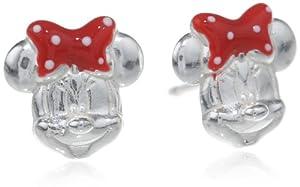 Disney Minnie Sterling Silver Stud Earrings from Disney
