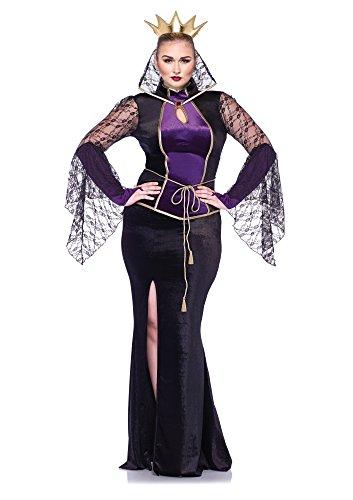 Halloween 2017 Disney Costumes Plus Size & Standard Women's Costume Characters - Women's Costume CharactersLeg Avenue Women's Plus-Size Disney 3 Piece Evil Queen, Black, 1X/2X