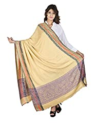 Figaro Yellow Viscose Woven Women's Shawl