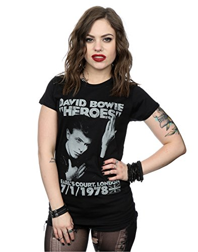David Bowie Women's Earls Court Heroes T-Shirt Medium Black (Heroes And Cults compare prices)