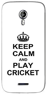 Snoogg Keep Calm and Play Cricket Designer Protective Back Case Cover For Micromax A117