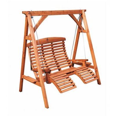 AFK Hand Crafted Wooden Garden Comfort Swing Seat
