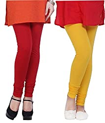 Shiva collections Red and Yellow cotton legging