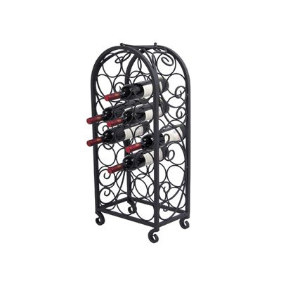 Pangaea Home and Garden BT-W063-K 20 Bottle Iron Wine Cage with Scro (Iron Wine Cabinet compare prices)
