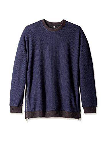 Rochambeau Men's Black Ice Zip Sweater
