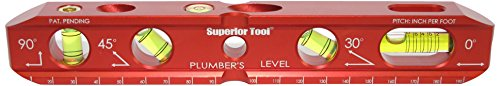 Superior-Tool-06022-Plumbers-Torpedo-Level-Wall-and-Counter-Leveler-with-Standard-and-Metric-Measuring