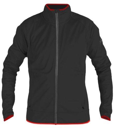 Giacca Softshell alpino maschile di Crown per uomini giacca TOMMY nero 62