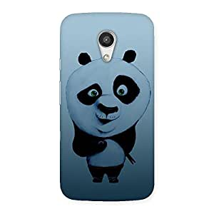 Cute Panda Puzzled Multicolor Back Case Cover for Moto G 2nd Gen