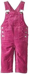Hatley Infant Girls Dungaree-Hellebore Pink Cord - Pantalones de peto para niñas